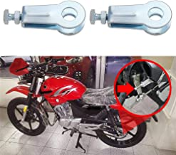 YPINGLI Motorcycle Polished Steel Rear wheel chain adjusters pullers For Yamaha YBR125 NEW