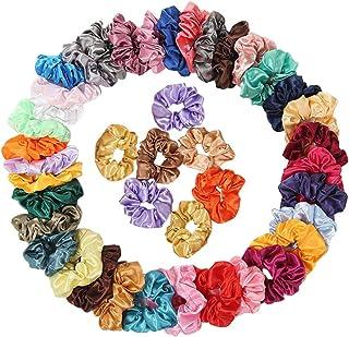 Ausexy 42 Pcs Hair Scrunchies,Premium Silk Elastic Hair Loop Elastic Hair Bands for Women or Girls Hair Accessories