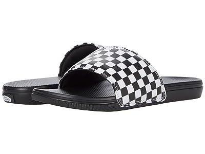 Vans Kids La Costa Slide-On (Big Kid) ((Checkerboard) White) Kid