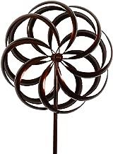 Bronze Flower Style Kinetic Wind Garden Spinner