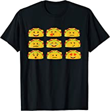 Funny Taco Emoji Mexican Food Lover Gifts Kids Adult T-Shirt