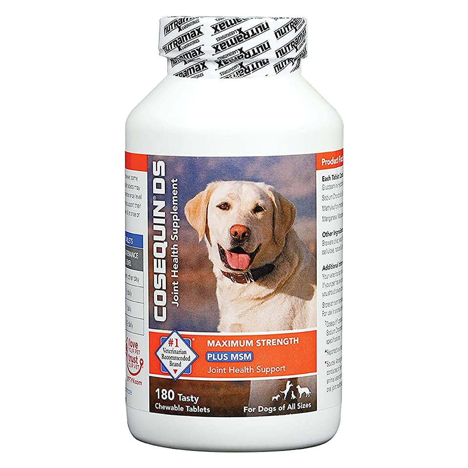 秋飲食店許すNutramax Cosequin DS PLUS MSM Joint Health Supplement for Dogs of All Sizes - 180 Chewable Tablets 海外直送