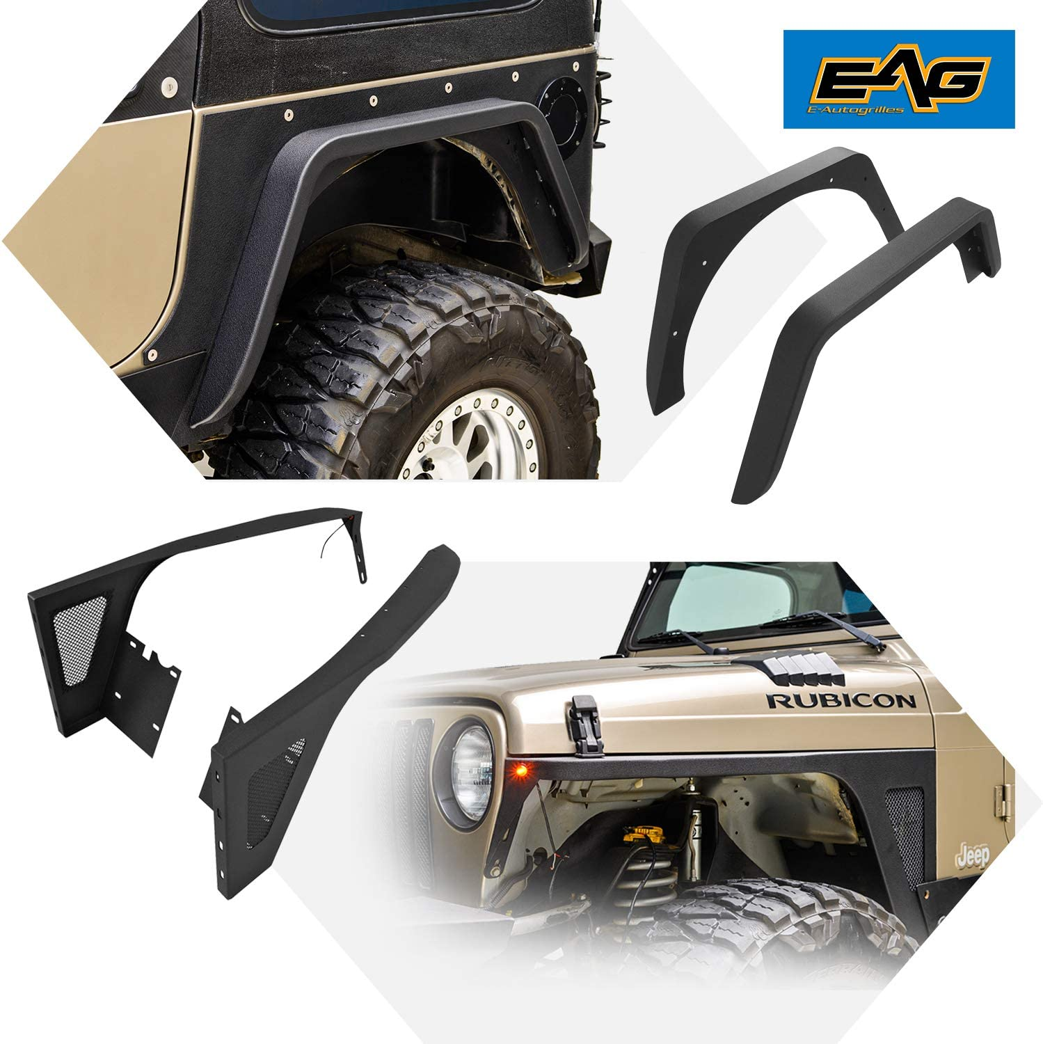 Virginia Popular brand Beach Mall EAG Steel Front and Rear Fender Fits Combo 97-06 4PCS for Flare