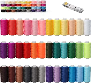 WIWAPLEX 72Pcs Bobbins Sewing Thread Kits, 437 Yards Per Thread Spools, Prewound Bobbin with Case 36 Colors Sewing Supplie...