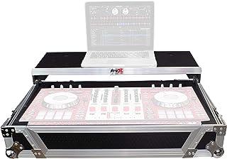 ProX XS-DDJSX WLT Flight Case for Pioneer DJ DDJ-SX DDJ-RX & Denon MCX7000 With Sliding Laptop Shelf and Wheels - Silver o...