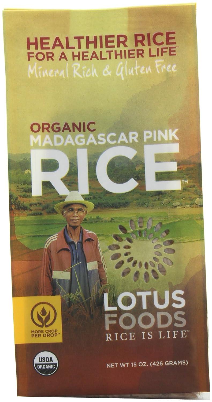 Lotus Foods Organic Madagascar Pink Rice, 15 Ounce
