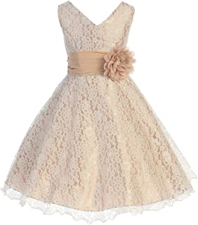 iGirlDress Little Girls Lace Special Occasion Dress Sizes 2-20