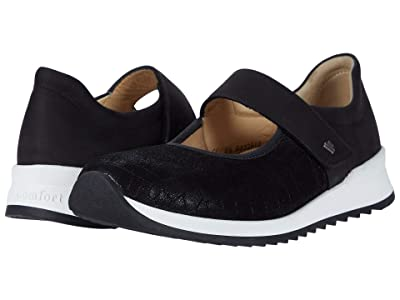 Finn Comfort Assenza (Black/Croco/Stretch) Women