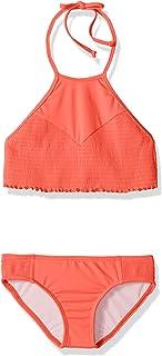 طقم مايوه سباحة مكون من قطعتين مطبوع عليه عبارة Sol Searcher برقبة عالية للفتيات من Billabong
