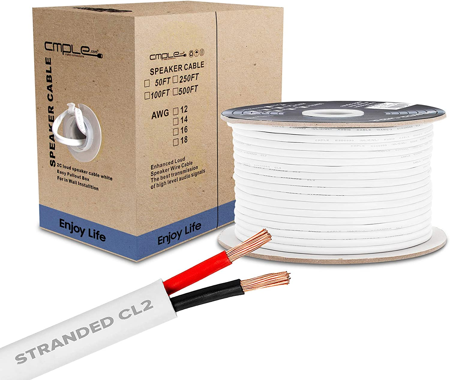 Cmple - 250FT 16AWG Speaker Wire with Fixed price for OFFicial sale Cable 2 Conductor
