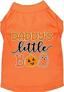 Mirage Pet Product Daddy's Little Boo Screen Print Dog Shirt Orange XL