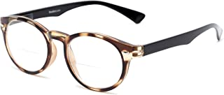 Readers.com Reading Glasses: The Ivy League Bifocal Reader, Plastic Round Style for Men and Women