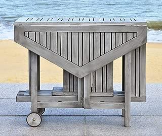 Safavieh Outdoor Living Collection Kerman 5-Piece Dining Set, Ash Grey