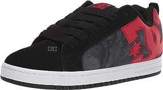 DC Men's Court Graffik Se Skate Shoe, Black/red/red, 15 M US