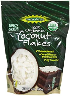 LETS DO Organic Unsweetened Coconut Flakes, 7 OZ