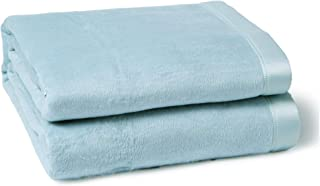 CUDDLE DREAMS Silk Blanket for All Seasons, Premium Mulberry Silk, Naturally Soft, Breathable (Ice Blue, King 108