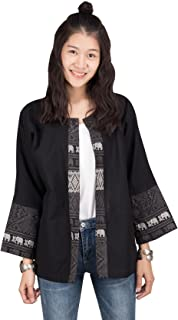 Lofbaz Women's Thai Cotton Kimono Cardigan Soft and Comfortable Fabric