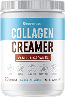 NativePath: Vanilla Caramel Collagen Coffee Creamer - Made with Pure Grass-Fed Collagen Protein Powder, MCT Oil, Monk Frui...