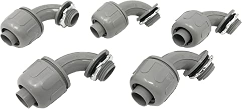 Sealproof 1/2-Inch Nonmetallic Liquid-Tight 90-Degree Electrical Conduit Connector Fitting, 1/2