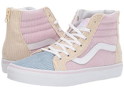 Vans Kids Sk8-Hi Zip (Little Kid/Big Kid) ((Corduroy) Lilac Snow/Blue Fog) Girls Shoes