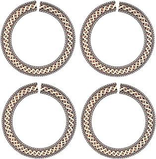 JRosee Swarovski Element Onyx Heart Love Ring for Women Size 8