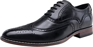 VOSTEY Men's Dress Shoes Classic Derby Wingtip Brogue Men Oxfords
