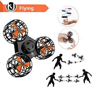 Bonitronic Flying Ball Toys, Flying Fidget Spinner USB Rechargeable, Interactive Mini Drone Indoor Outdoor, Flying Toys for Boys Girls, Kids Adults