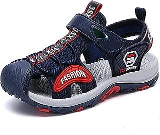 SAGUARO Boys Girls Breathable Closed Toe Athletic Sandals