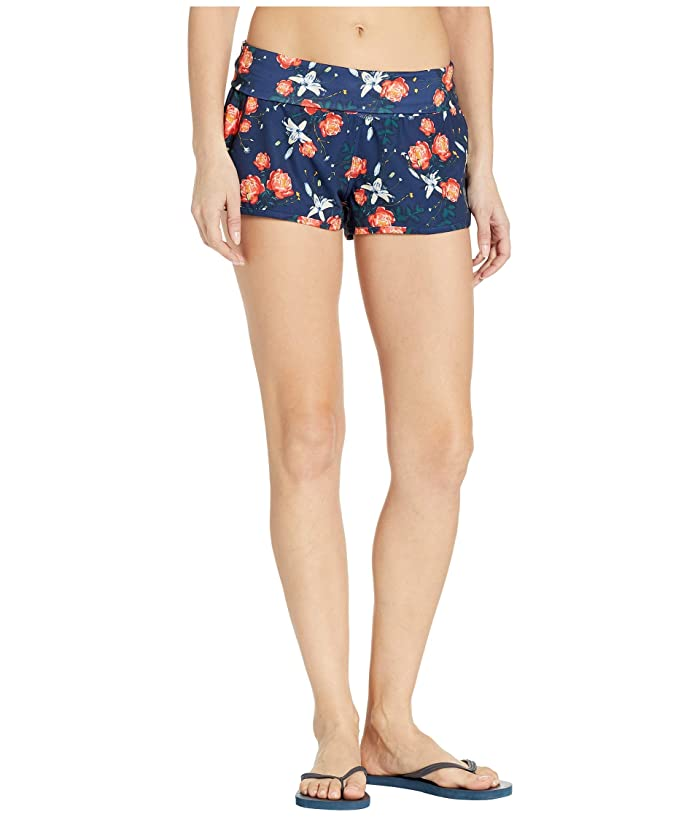 Roxy Endless Summer Print Boardshorts (Medieval Blue Garden Lily) Women