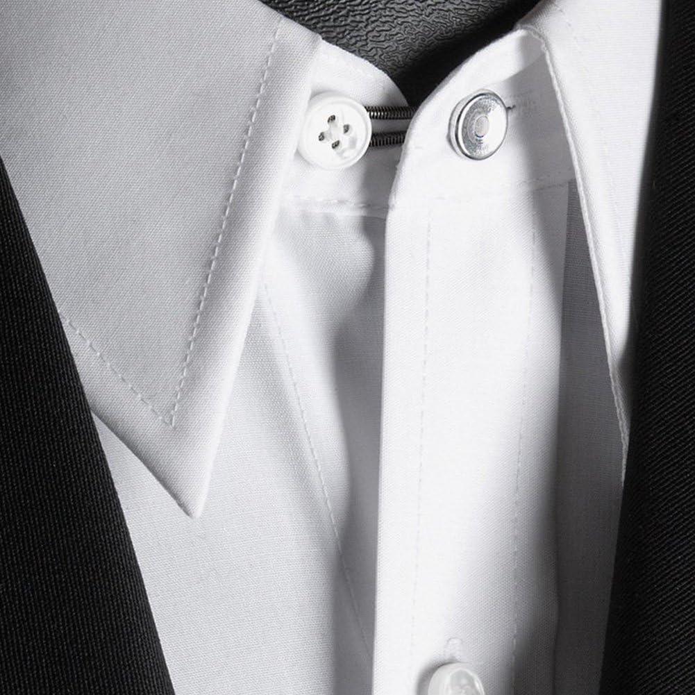 Extensores de cuello de camisa de metal de 10 mm para camisas de vestir