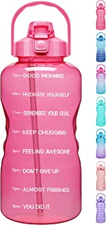 Venture Pal Large 1 Gallon/128oz Motivational Water Bottle with Time Marker & Straw,Leakproof...