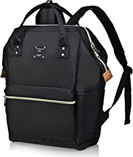 Casual College Backpack Lightweight Travel Wide Open Back to School Backpack for Women&Men
