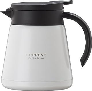 Atlas アトラス CURRENT カレント ドリッパーが直接使える ステンレス コーヒー サーバー 0.8L ホワイト ACS-801WH 珈琲 Coffee 卓上 ポット 真空 断熱 2重構造 ダブル ステンレス