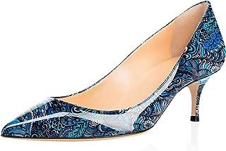 Eldof Women Kitten Heels Pumps | Pointed Toe Stiletto | 6.5cm Classic Court Shoes