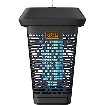 BLACK+DECKER Bug Zapper | Electric UV Insect Catcher & Killer for Flies, Mosquitoes, Gnats & Other Small to Large Flying Pests | 1 Acre Outdoor Coverage for Home, Deck, Garden, Patio, Camping & More