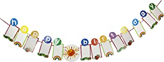 World of Eric Carle, The Very Hungry Caterpillar Party Supplies, Happy Birthday Photo Garland Decoration, Paper, 3M