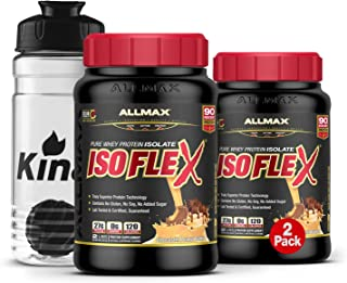 ALLMAX Nutrition Isoflex Whey Protein Isolate Peanut Butter Chocolate Protein Powder All Whey Ultra-Pure Whey Protein No G...