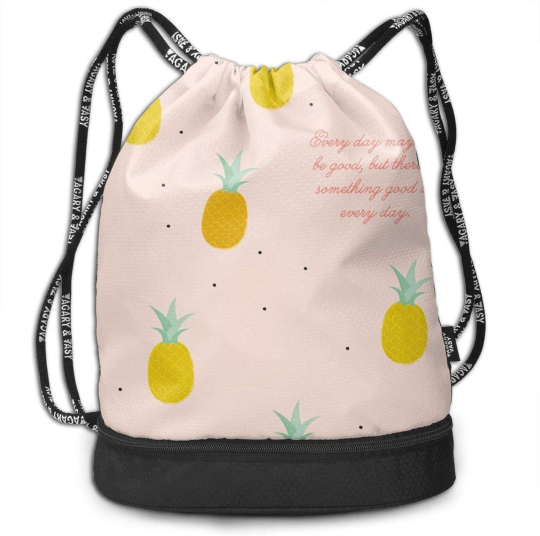 f66749488ea4 Gugaa Cute Pineapple Sport Gym Sack Drawstring Bag Outdoor Shopping ...
