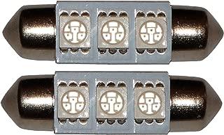 2 x LED lampadine SMD 12V C5W 3LED 36 mm luce blu . AERZETIX
