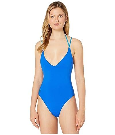 Polo Ralph Lauren Modern Solids Lingerie Strap Lace Back Mio One-Piece (Cobalt) Women