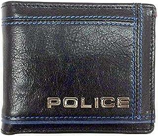 POLICE ポリス COLORS 二つ折り財布 ショートウォレット 牛革 ブラック PA-58400-10