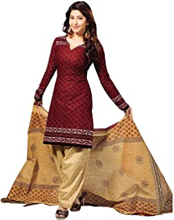 Vaamsi Women's Cotton Dress Material (Cocp6_Multicoloured_One Size)
