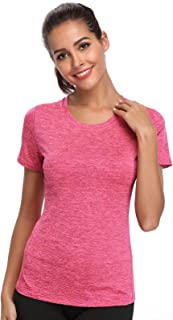 Joyshaper Compression Tops Women Quick Dry Fit Tank Sweat Shirt T-Shirt Tee Short Sleeves Sports Workout Athletic Fitness ...