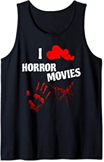 I Love Horror Movies Scary Movie Lover Graphic Tank Top