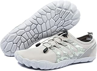 YESMOLA أحذية رياضية مائية للرجال سريعة الجفاف لا تنزلق عند أصابع القدم حافية القدم للسباحة وركوب الأمواج والشاطئ واليوغا