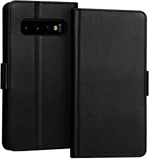FYY Samsung Galaxy S10 Case, Luxury [Cowhide Genuine Leather][RFID Blocking] Handcrafted Galaxy S10 Wallet Case, Handmade ...