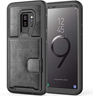 Galaxy S9 Plus Wallet Case, ZERMU Durable Premium PU Leather Shockproof Leather Back Cover?Flip Wallet Protective Defender with Card Slot [Compatible with Magnetic car Mount]for Samsung Galaxy S9 Plus