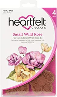 HEARTFELT CREATIONS Cling RUBBR STMP Set, Wild Rose -Small Rose