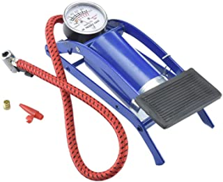 R_V Enterprise® High Pressure Foot Pump, Bike Motorbike Inflation Pump with Pressure Gauge