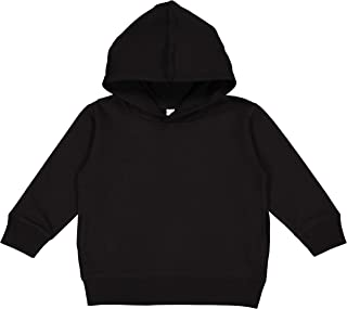 Toddler Fleece Long Sleeve Hooded Pullover Sweatshirt with Side Seam Pockets